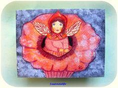Holzkiste Blumenelfe Jahreszeitentisch von Susannelfes Blumenkinder  auf DaWanda.com