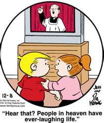 """Ever-laughing life. - """"Family Circus"""" by Jeff and Bil Keane; Christian Comics, Christian Cartoons, Christian Humor, Family Circle, Love My Family, Funny Kids, The Funny, Family Circus Cartoon, Bible Humor"""