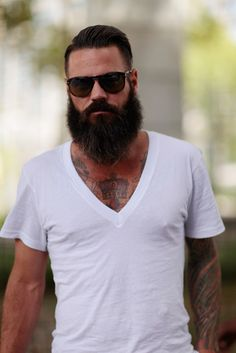 A beard like this needs only a simple white vneck