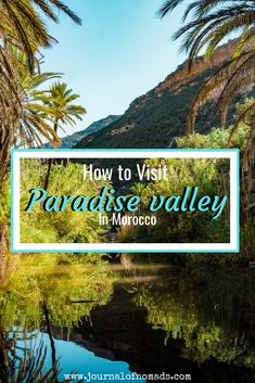 Find out how to get to the idyllic Paradise Valley, Morocco. This small oasis is a welcome change to the vast desert landscape surrounding it! Find out more here! Marrakesh, Agadir Morocco, Beautiful Places To Visit, Cool Places To Visit, Places To Travel, Travel Destinations, Morocco Travel, Africa Travel, Vietnam Travel