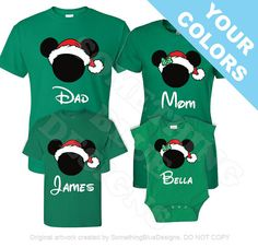Family Mickey Minnie Vacation Christmas by SomethingBlueDesigns