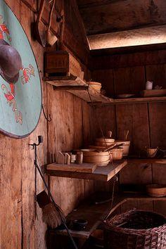 Shelves in the Foteviken Viking Museum