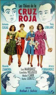 """""""Las chicas de la Cruz Roja"""" (1958). País: España. Director: Rafael J. Salvia. Reparto: Tony Leblanc, Concha Velasco"""