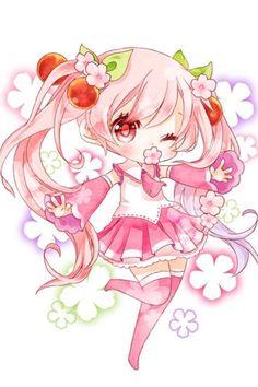 """I'm telling you, Sakura Miku is leagues better than Winter Miku in terms of sheer adorbibleness~~! Chibi Kawaii, Cute Anime Chibi, Kawaii Art, Kawaii Anime Girl, Anime Art Girl, Sakura Chibi, Sakura Miku, Chibi Girl Drawings, Kawaii Drawings"