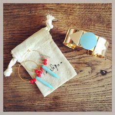 Bijoux : cuir pastel turquoise