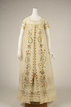 Ensemble Date: ca. 1798 Culture: probably European Medium: cotton, silk Accession Number: 1992.119.1a–c
