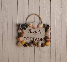 Miniature Beach Cottage Sign Framed In An by LittleThingsByAnna