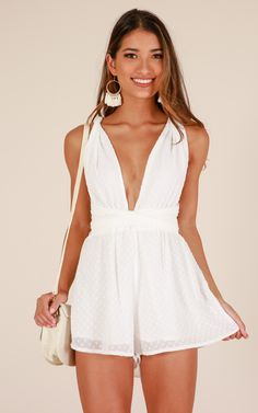 cute and popular girly outfits ideas suitable for every woman copy 35 Girly Outfits, Cool Outfits, Fashion Outfits, Fasion, White Jumpsuits And Rompers, Playsuits, Cute Rompers, Cute Dresses, Casual Dresses