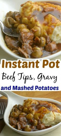 Hypoallergenic Pet Dog Food Items Diet Program Instant Pot Beef Tips With Gravy And Mashed Potatoes Instant Pot Pressure Cooker, Pressure Cooker Recipes, Pressure Cooking, Slow Cooker, Crockpot Recipes, Cooking Recipes, Casserole Recipes, Ninja Recipes, Delicious Recipes