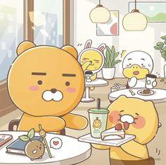 Cony Brown, Iphone Home Screen Layout, Kakao Friends, Anime Scenery Wallpaper, Kawaii Art, Cute Wallpapers, Coloring Books, Pikachu, Illustration Art