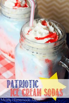 Mostly Homemade Mom: Patriotic Ice Cream Soda