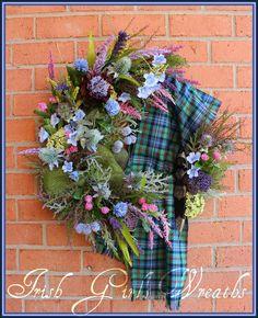 IGW Gallery: Custom Ordered Scottish Robertson Tartan Wreath