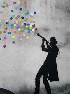 by Kenny Random! Urban Street Art, Urban Art, Amazing Street Art, Stencil Art, Land Art, Street Artists, Banksy, Graffiti Art, School Projects