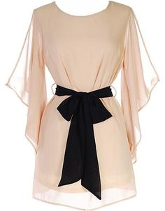 #contests #giveaways #pinterest Angel Dust Dress: Features ethereal kimono sleeves, exaggerated keyhole design to the rear, contrast ribbon belt at waist, and an elegant wispy hem to finish.