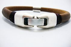 FREE SHIPPING  Men's leather bracelet Brown and by DenizKumu, $24.00