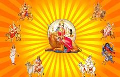 Durga is known by the name Adi Shakti, Maa Jagadamba, Amba in the whole world. Navratri Festival From October 2020 To October Read here. Set Wallpaper, Navratri Wallpaper, Happy Navratri Images, Navratri Puja, Navratri Festival, Libra And Pisces, Mother Goddess, Durga Puja