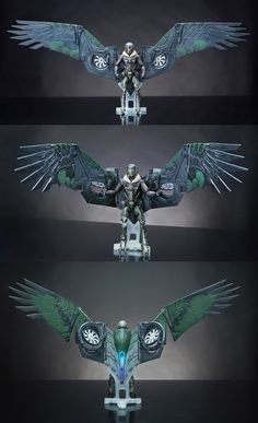 The Vulture flying wing suit from the movie Spider-man Homecoming