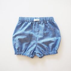 Denim Blue Cotton Bloomers