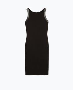 Image 7 of TUBE DRESS WITH FAUX LEATHER DETAILS from Zara