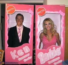 Homemade Couples Halloween Costumes | Barbie & Ken - Homemade costumes for couples | Halloween