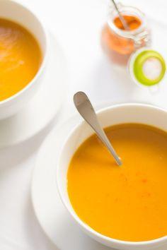 Carrot and Sweet Potato Soup Below Recipe