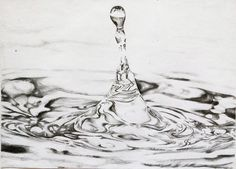 Water Drop Pencil Drawing