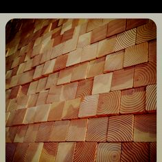 Raw wood wall treatment. Textural art and function.