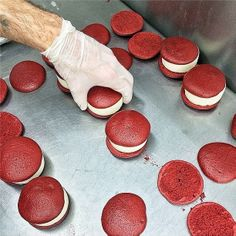 This behind-the-scenes photo from High Line Food vendor Melt Bakery has our mouths watering. We can't wait to escape the office to grab one of these Red Velvet cake–inspired ice cream sandwiches at West 15th Street.