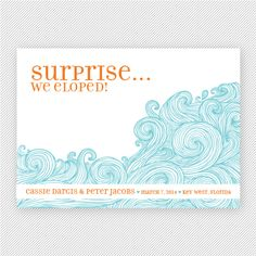 Elopement Card - Wedding - We've Eloped Antelope, Elopement ...