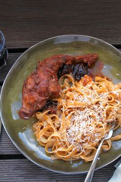 My Little Expat Kitchen: Greek braised rabbit with hilopites pasta