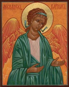 Archangel Raphael; Color is Green; Responsibilities are Physical, Emotional and Mental Healing