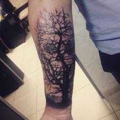 Skull Tree Tattoo