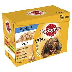 From 3.45:Pedigree Senior Dog Pouches Meat Selection in Jelly 1200 g