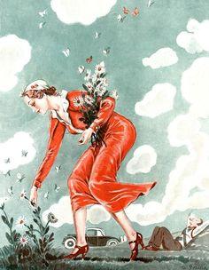 Illustration by George Pavis  For La Vie Parisienne  1920s