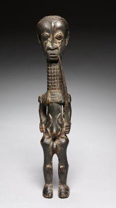 Male Figure, 1900s. Central Democratic Republic of the Congo, Luluwa people or Luntu people, 20th century.