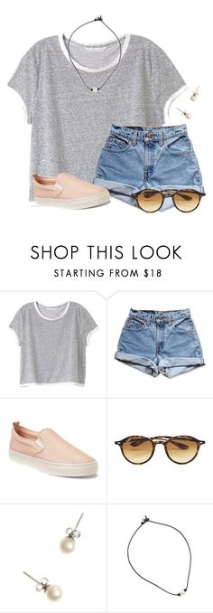 """""""I love these kinds of sneakers"""" by flroasburn ❤ liked on Polyvore featuring Victoria's Secret, Levi's, Gap, Ray-Ban and J.Crew"""