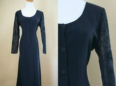 1990's The Craft Dress  Black Tie Back 90's by LittleGhostVintage