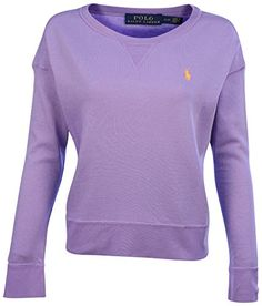 Polo Ralph Lauren Womens Open Crewneck SweatshirtPurple MarLarge -- Want to know more, click on the image.Note:It is affiliate link to Amazon. #followback