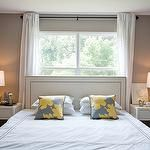 bed in front of a window ideas - Google Search