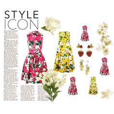 E tu, che gusto sei? #Strawberry and #lemon new post now on www.robyzlfashionblog.com #dress #loveit #summer #robyzl #serendipity Dolce & Gabbana #dress #dolcegabbana   Strawberry and lemon by robertazl on Polyvore featuring moda, Samantha Sung, Dolce&Gabbana and Talbots