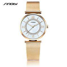 08b0923266f SINOBI Moda Ouro Senhoras de Diamantes Relógios de Pulso das Mulheres Top  Marca de Luxo de · Relógios PulseiraRelógio ...