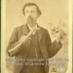 Osteopathy starts and ends with its founder Andrew Taylor Still. Still claimed that human illness was rooted in problems with the musculoskeletal system and that hands-on manipulations could solve these problems and effect a cure by harnessing the bodys own healing potential!  Don't fall for imitation course for proper classical osteopathic continuing education trust the Canadian Academy of Osteopathy and Canadian Institute of Classical Osteopathy  #osteopath #osteopathy #HamOnt #CAO…