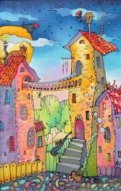сказочный старый город рисунок - Поиск в Google