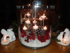 Magestic hurricane with mothers love and joy candle holders. Get the beautiful hurricane half price with your order, contact me for details. Simple Centerpieces, Flower Centerpieces, Flower Arrangements, Beautiful Candles, Best Candles, Christmas Baskets, Christmas Stuff, Chandeliers, Christmas Candle Decorations