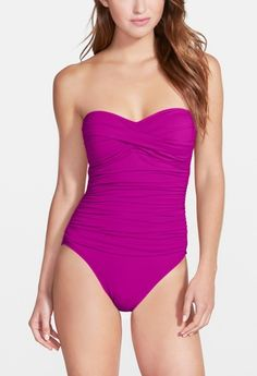 Can't wait to wear this vibrant purple swimsuit on the beach.