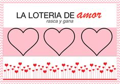 Tarjetas de 'rasca y gana' especial San Valentín