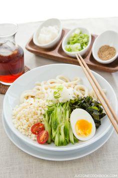Cold Tanuki Udon 冷やしたぬきうどん | Easy Japanese Recipes at JustOneCookbook.com