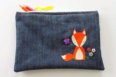 Sew Delicious: Quiet Fox Applique Pencil Case