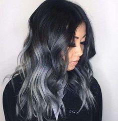 Cabello de carbón: El nuevo color de pelo que se lleva  (Foto) | Ellahoy