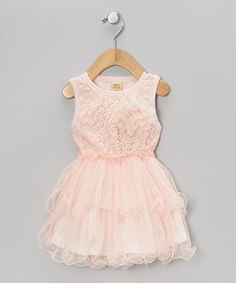 Take a look at this Dusty Rose Vintage Rosette Dress - Toddler & Girls by Mia Belle Baby on #zulily today!